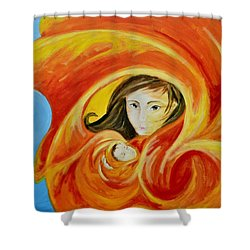 Mother's Warmth Shower Curtain