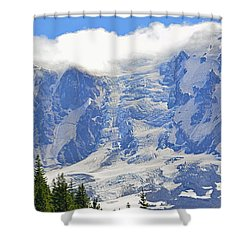 Mount Adams Shower Curtain by Tikvah's Hope