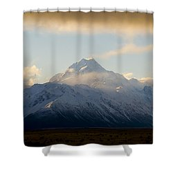 Mount Cook New Zeland Shower Curtain by Tim Hester