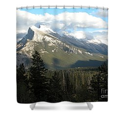 Mount Rundle Shower Curtain by Stuart Turnbull