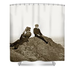 Shower Curtain featuring the photograph Mount Tamalpais Marin County  Circa 1902 by California Views Mr Pat Hathaway Archives