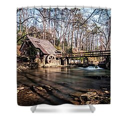 Shower Curtain featuring the photograph Mountain Brook Mill by Andy Crawford