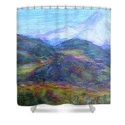 Mountain Patchwork Shower Curtain