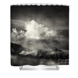 Mountain View Shower Curtain by Setsiri Silapasuwanchai
