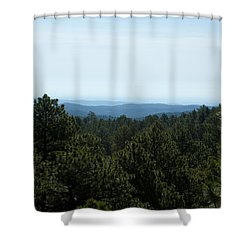 Mountains In The Distance Shower Curtain