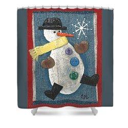 Mr. Snowjangles Shower Curtain