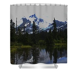 Mt Baker Washington  Shower Curtain by Tom Janca