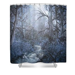 Mystery Shower Curtain by Megan Walsh