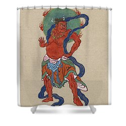 Mythological Buddhist Or Hindu Figure Circa 1878 Shower Curtain by Aged Pixel