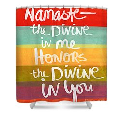 Namaste  Shower Curtain by Linda Woods