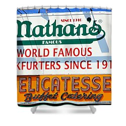 Nathan's Sign Shower Curtain
