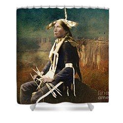 Native Honor Shower Curtain by Lianne Schneider