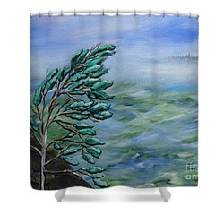 Natures Dance Shower Curtain by Beverly Livingstone