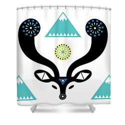 Navajo Deer Shower Curtain by Susan Claire