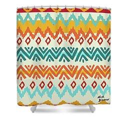 Navajo Mission Round Shower Curtain