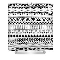 Navajo Surf Repeat Print Shower Curtain by Susan Claire