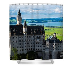 Neuschwanstein Castle - Bavaria - Germany Shower Curtain by Gary Whitton
