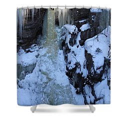 The Wintery Flume  Shower Curtain