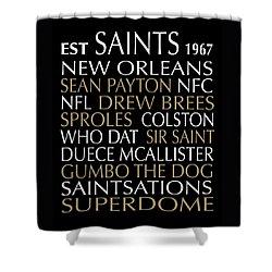 Shower Curtain featuring the digital art New Orleans Saints by Jaime Friedman