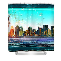 New York City Shower Curtain by Daniel Janda