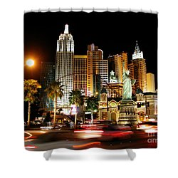 New York Minute Shower Curtain by Stuart Turnbull