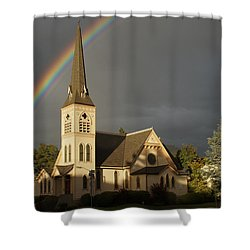 Newman United Methodist Church Shower Curtain by Mick Anderson
