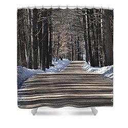 Nh Back Roads Shower Curtain