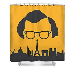 No312 My Manhattan Minimal Movie Poster Shower Curtain