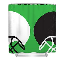No420 My Any Given Sunday Minimal Movie Poster Shower Curtain
