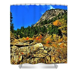 North Cascades  Shower Curtain by Benjamin Yeager