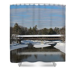 North Conway Covered Bridge  Shower Curtain