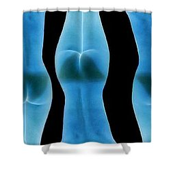 Nude Invert Shower Curtain by J Anthony