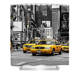 Nyc Yellow Cabs - Ck Shower Curtain by Hannes Cmarits