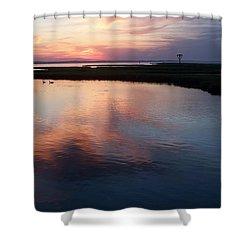 Ocean City Md  Shower Curtain by Eric  Schiabor