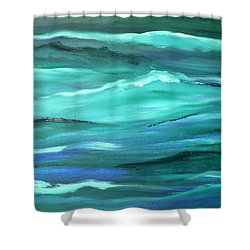 Ocean Swell By V.kelly Shower Curtain