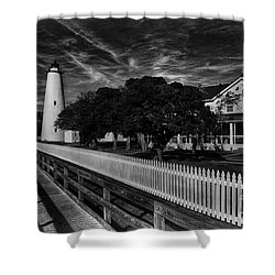 Ocracoke Lighthouse Shower Curtain