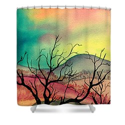 October Sky Shower Curtain