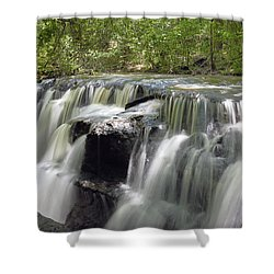 Odom Creek Waterfall Georgia Shower Curtain by Charles Beeler