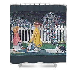Off To The Garden Shower Curtain