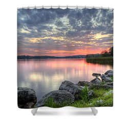 Ohio Lake Sunset Shower Curtain