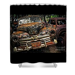 Old Rusty Ford Shower Curtain