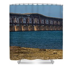 Old Bahia Honda Bridge Shower Curtain