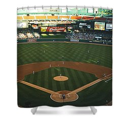 Old Busch Field Shower Curtain by Kelly Awad
