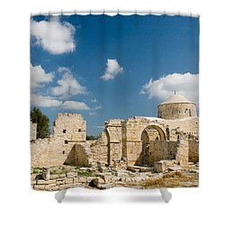 Old Church Anogyra  Shower Curtain by Jeremy Voisey