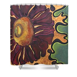 Shower Curtain featuring the painting Old Fashion Flower by Jolanta Anna Karolska