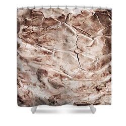 Old Grunge Creased Paper Texture. Retro Vintage Background Shower Curtain by Michal Bednarek