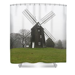 Old Hook Mill Shower Curtain by Karen Silvestri