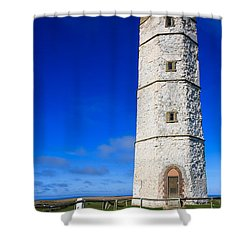 Old Lighthouse Flamborough Shower Curtain