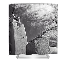 Old Mission Crosses Shower Curtain