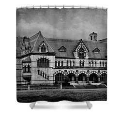 Old Post Office - Customs House B/w Shower Curtain by Sandy Keeton